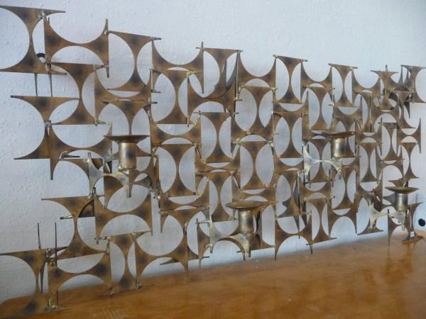 Mid Century Metal Sculpture Wall Art