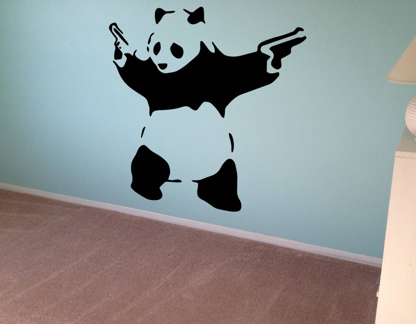 Personalised Graffiti Wall Sticker Full Colour Art Decal Any ...