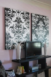 30 Photos Black And White Damask Wall Art
