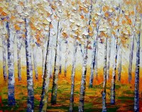 Aspen Tree Canvas #YT39