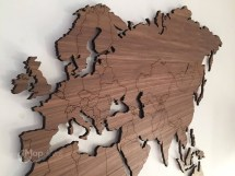 Wood Wall Decor World Map - Year of Clean Water