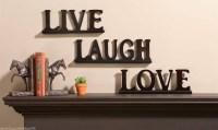 2018 Popular Live Love Laugh Metal Wall Decor