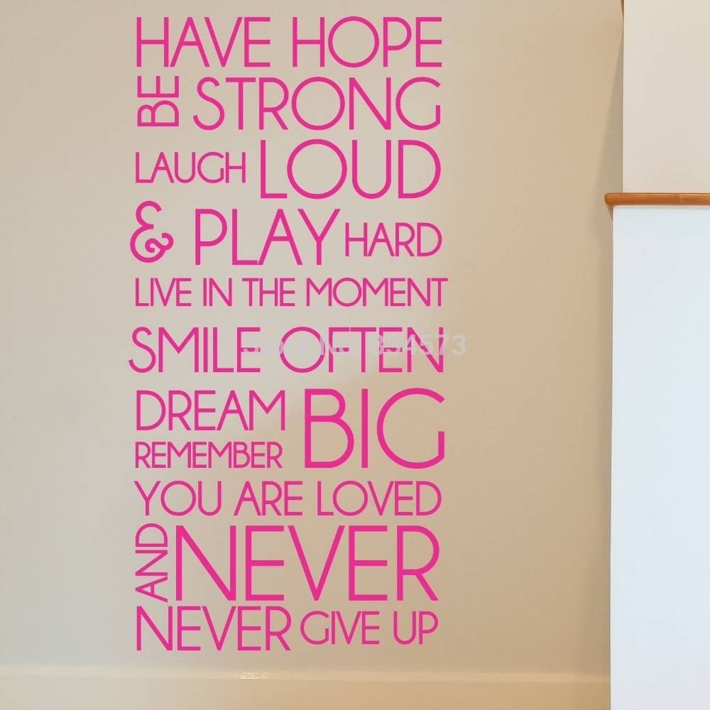 30 Best Collection of Inspirational Sayings Wall Art