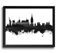 Best 20+ of New York Skyline Canvas Black And White Wall Art