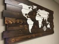 Best 20+ of Wooden World Map Wall Art