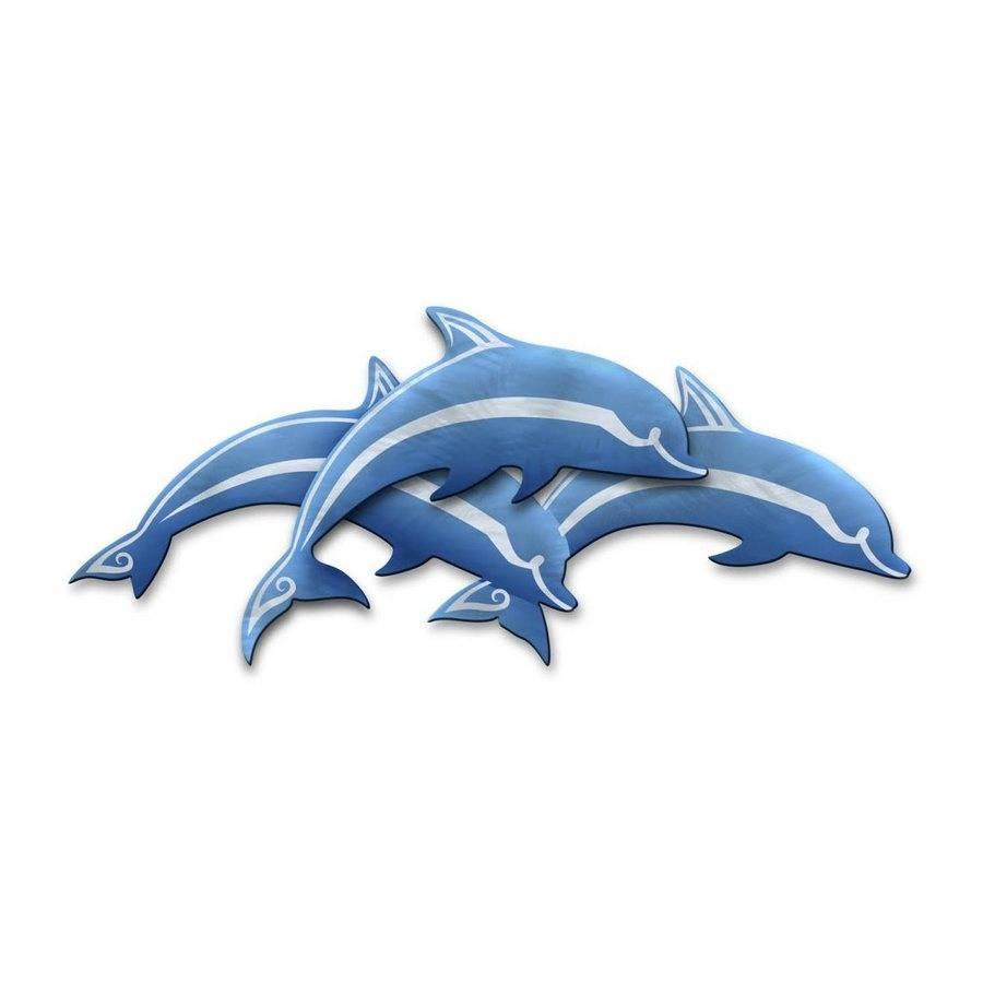 25 Ideas Of Dolphin Metal Wall Art