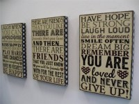 30 Photos Wooden Word Wall Art