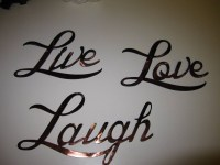 2018 Popular Live Love Laugh Metal Wall Decor