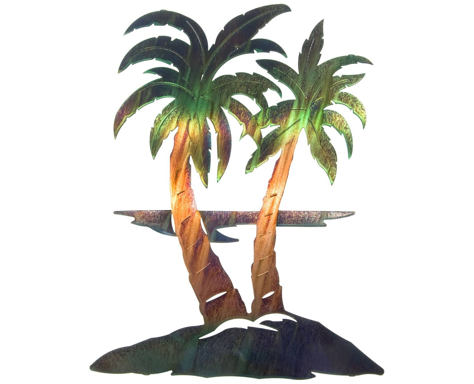 25 Collection Of Palm Tree Metal Art