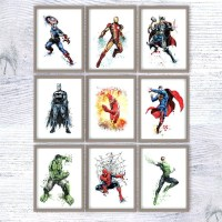 25 The Best Superhero Wall Art For Kids