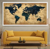 20 Best Collection of Large World Map Wall Art