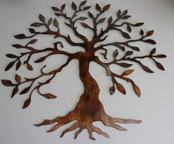 2019 Of Large Tree Life Metal Wall Art