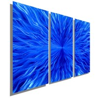 20 Collection of Blue Metal Wall Art