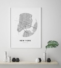 Best 20+ of Manhattan Map Wall Art
