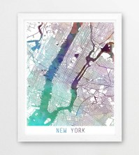 2018 Popular Nyc Map Wall Art