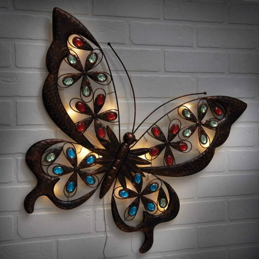 Collection Of Butterfly Garden Metal Wall Art