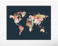 20 Photos World Map Wall Art Print