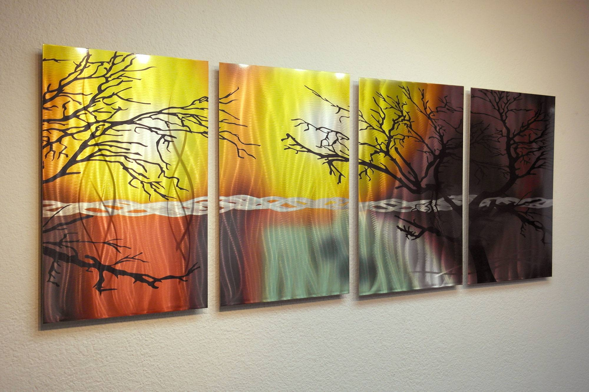 20 Collection Of Painted Metal Wall Art