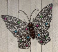 20 Collection of Butterfly Garden Metal Wall Art