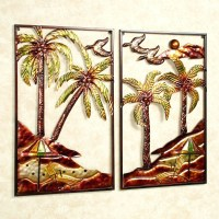 20 Collection of Tropical Metal Wall Art