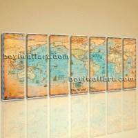 20 Photos World Map Wall Art Print