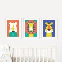 Nursery Animal Wall Art Lollyjane ~ TheNurseries