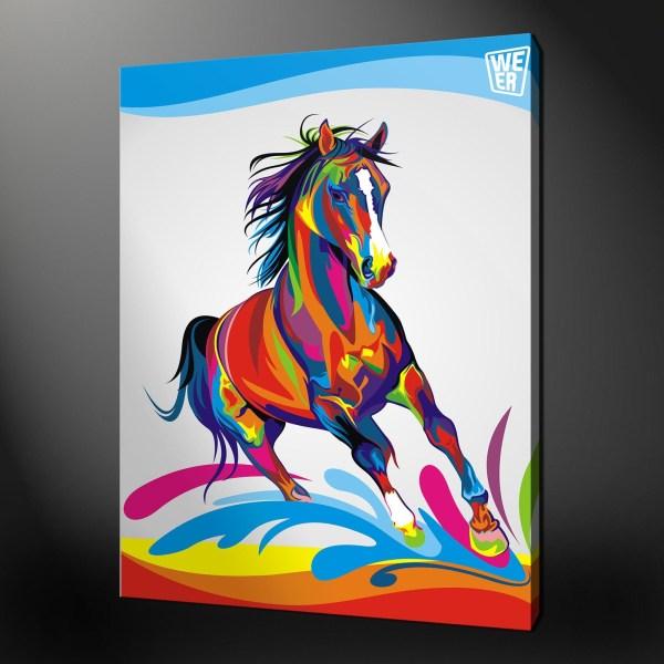 Abstract Horse Wall Art