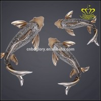 Top 20 of Abstract Metal Fish Wall Art