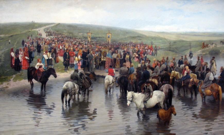 Прянишников И.М. Спасов день на севере, 1887, ГТГ