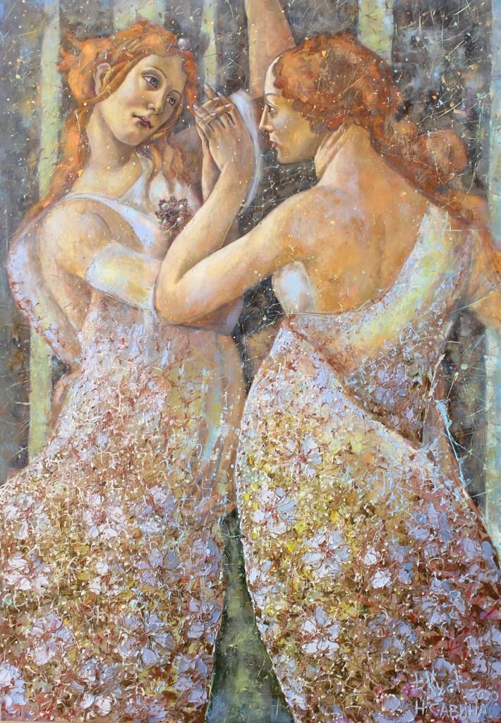 Дмитрий Кустанович и Наталия Савина. «Аdorare Botticelli». Из серии «Платье». 2020