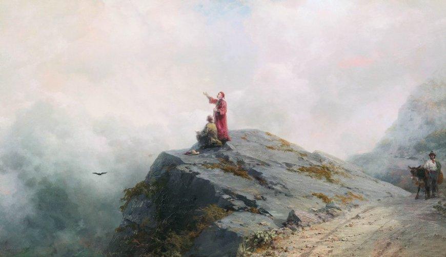 Иван Константинович Айвазовский, «Данте указывает художнику на необыкновенные облака», 1883