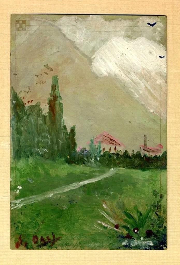 Сальвадор Дали, «Пейзаж близ Фигераса», 1910