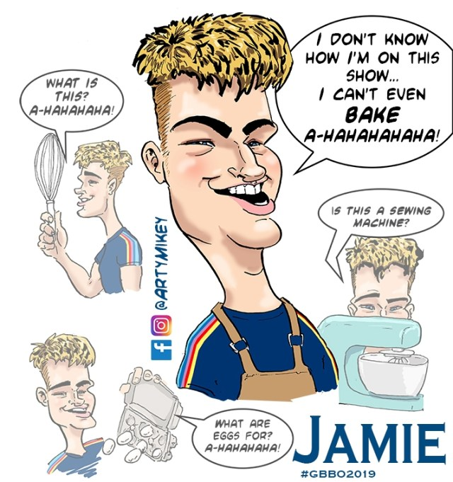 Jamie from The Great British Bake Off 2019