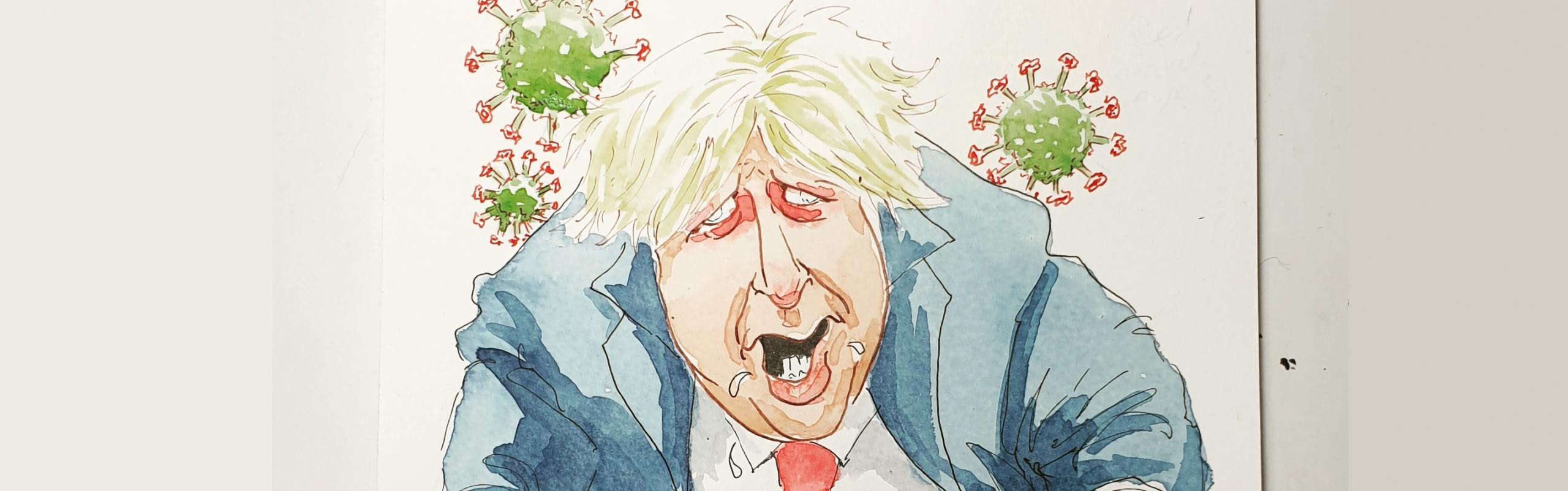 Boris Johnson catches the Zombie Virus
