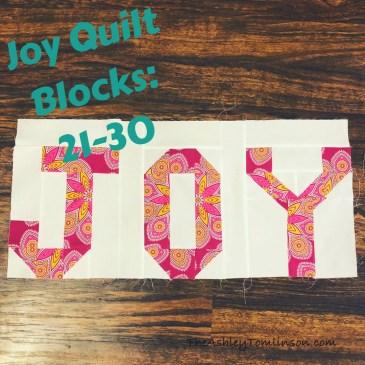 Joy Quilt Blocks: 21-30