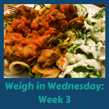 Weigh-in Wednesday: Week 3