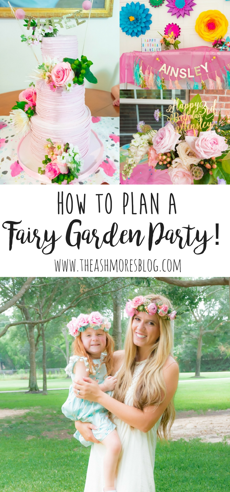 Ainsleys 3rd Birthday A Fairy Garden Party The Ashmores Blog