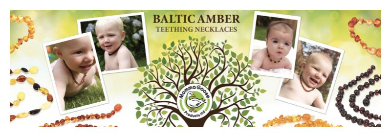 Amber Goose Baltic Amber Teething Necklaces