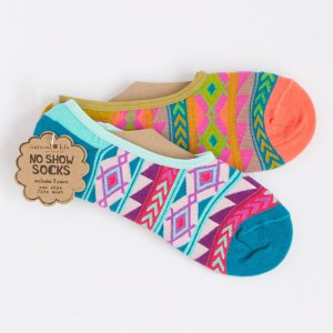 natural-life-socks-no-show-geometric-print