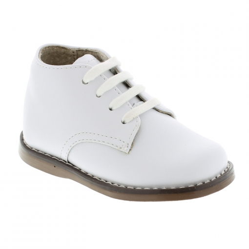 Footmates - Todd - White Lace-up Walking Shoe