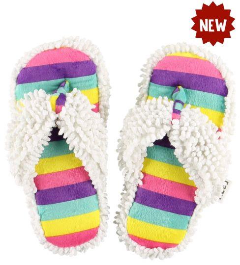 lazy-one-unicorn-stripe-spa-slippers