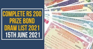 Prize Bond Draw List