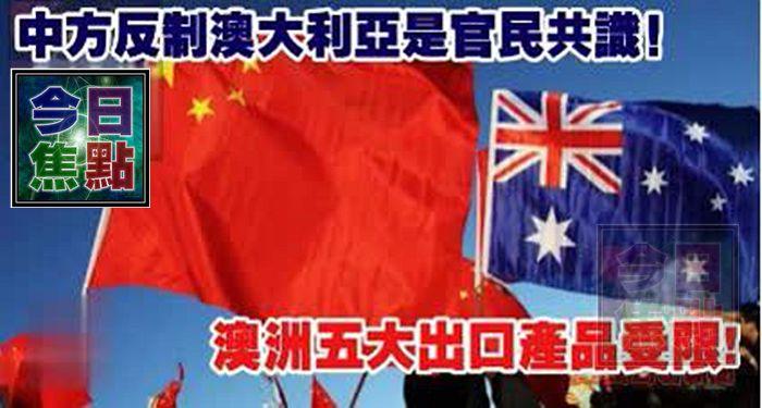中方反制澳大利亞是官民共識!澳洲五大出口產品受限