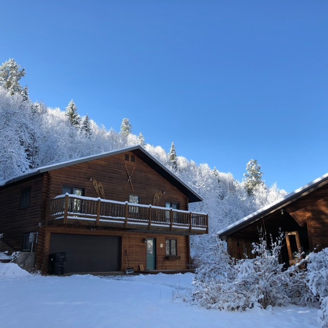 The Aspens Lodge in winter