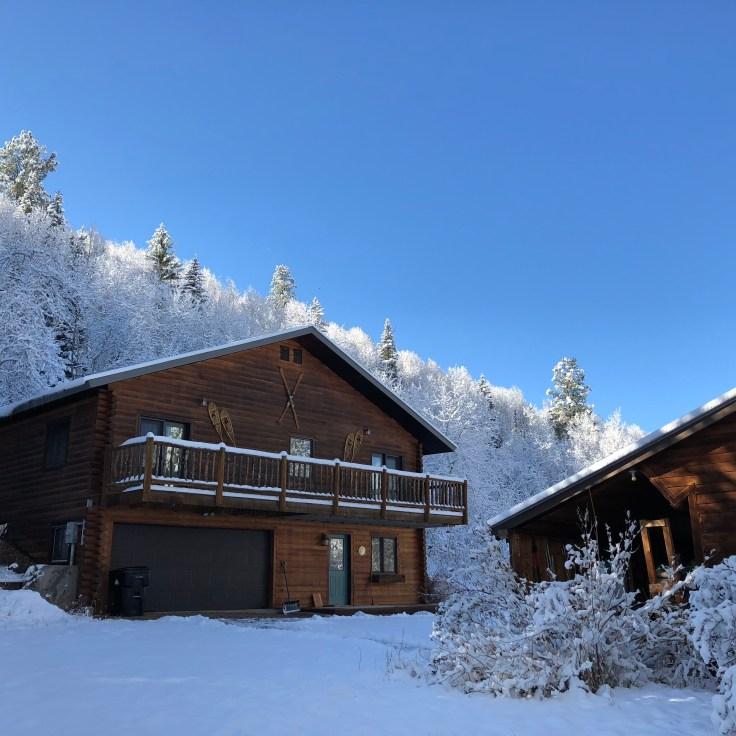 The Aspens Lodge in winter
