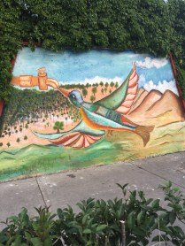 Community murals at the parish.
