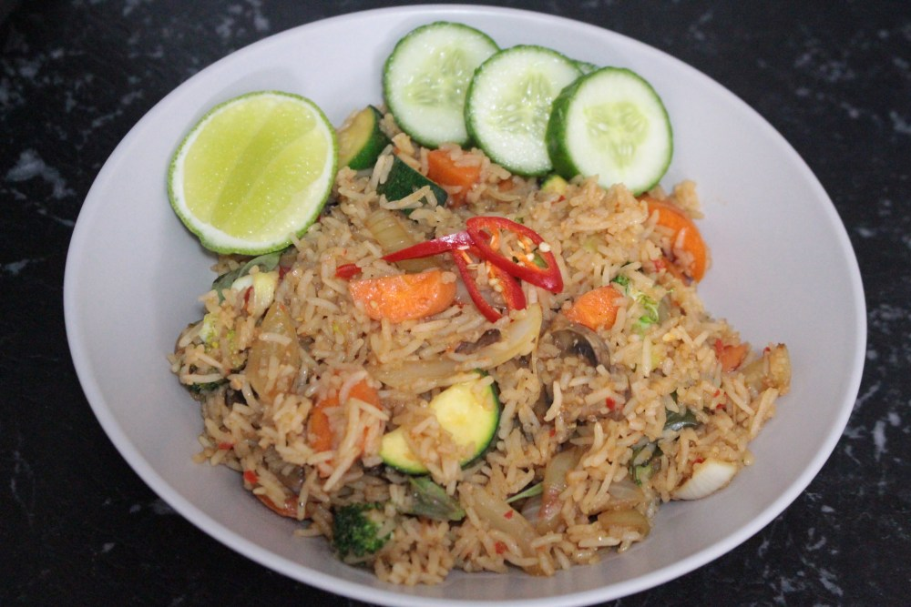 Vegan Thai Chilli Basil Fried Rice