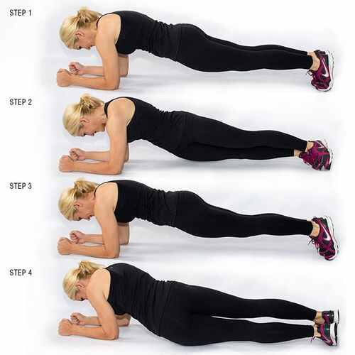Plank Dips