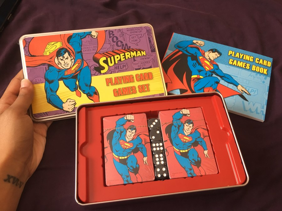 Superman Playing Card Game Set