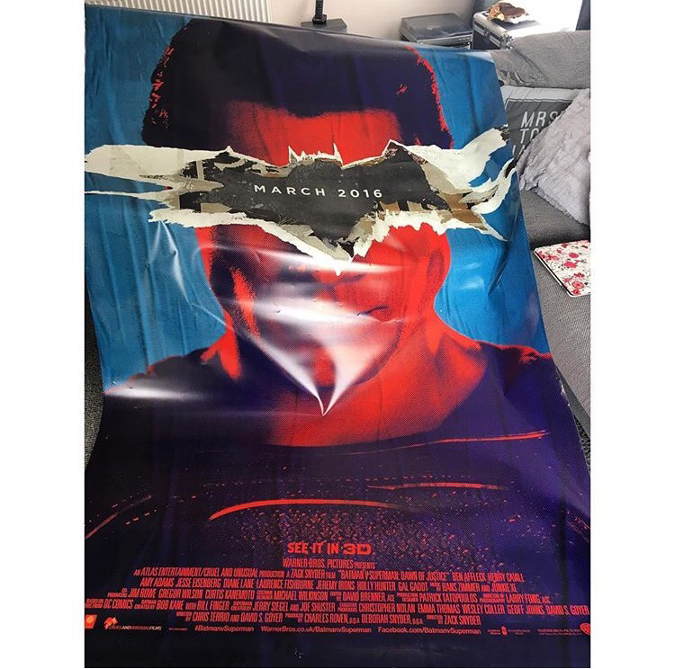 Batman Vs Superman Cinema Poster - Logo